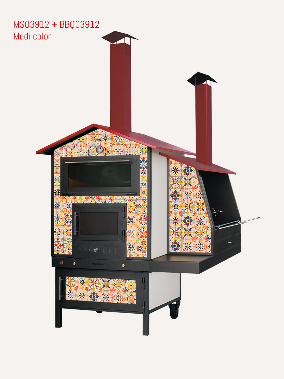 forno per esterno con barbecue