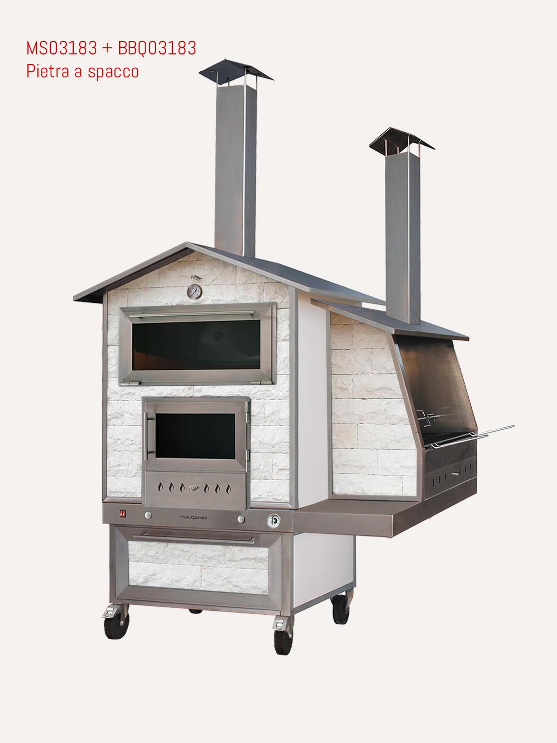 forno esterno con barbecue